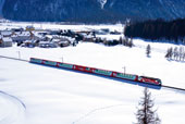 Glacier Express in Winter & Spring (Chur-Kandersteg) 2013