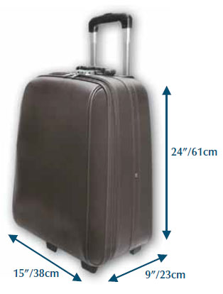 Recommended suitcase dimensions