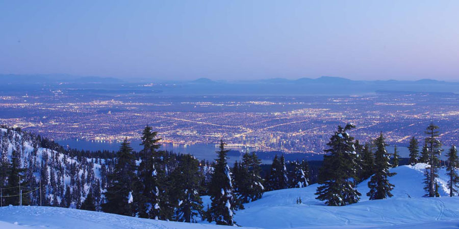 View of Vancouver from the Grouse Mountains