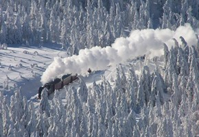 Snowbound Steam in Deepest Germany