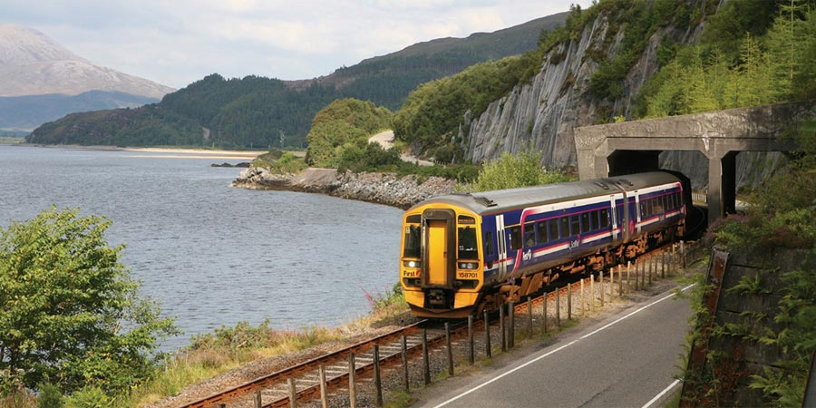 Travelling on the Scotrail service to Kyle of Lochalsh on the Kyle Line