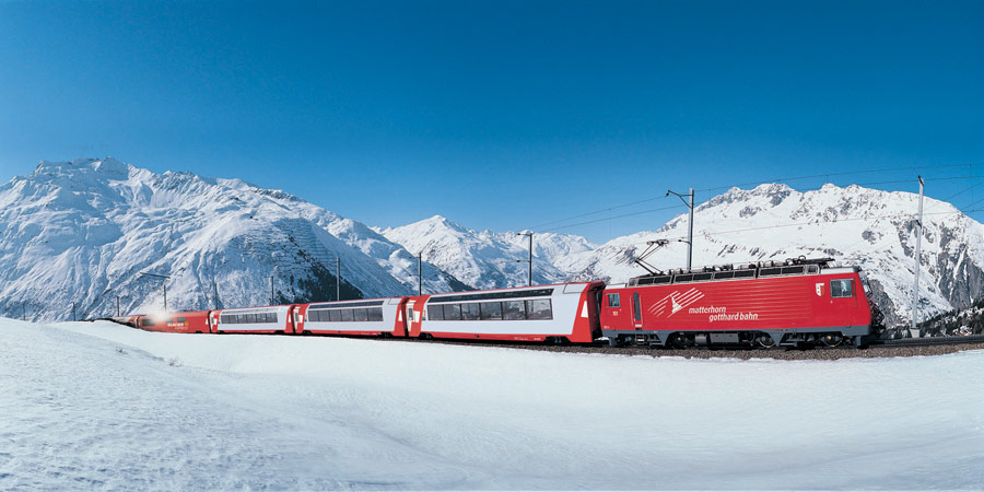 Glacier Express in Winter (Chur-Kandersteg) 2016