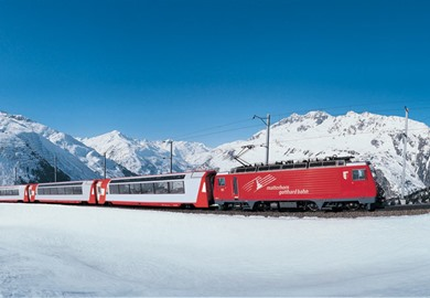 First Class Glacier Express in Winter (Brig-Chur) 2016