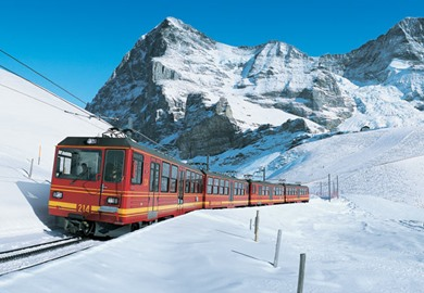 Jungfrau Express at Christmas