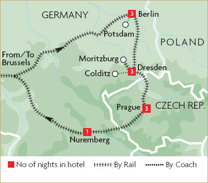 Tour czech republic by train great rail journeys for Berlin to dresden train