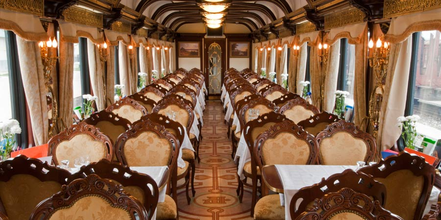 Tsar's Gold Private Train Dining Car