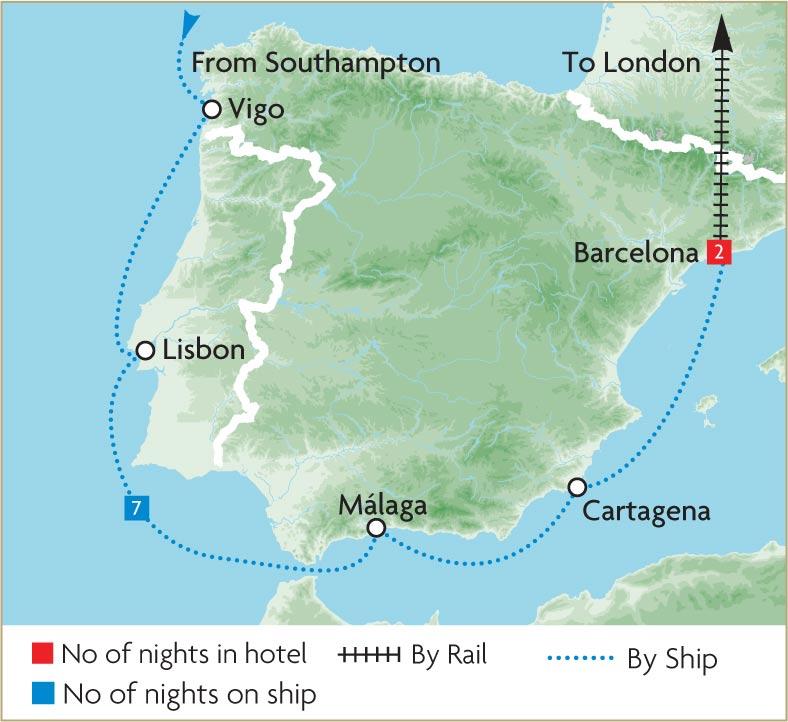 Mediterranean Cruises Great Rail Journeys