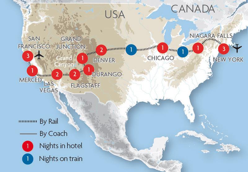 Usa Train Holidays  U0026 Rail Tours