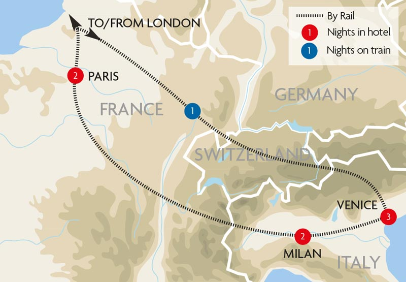 Escorted Tours Paris To Rome