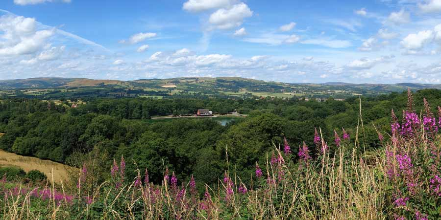 Llandrindod Wells Panoramic Views Wales