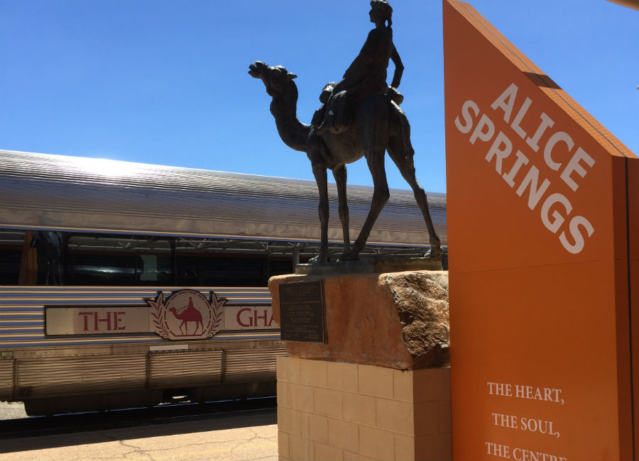 The Ghan at Alice Springs