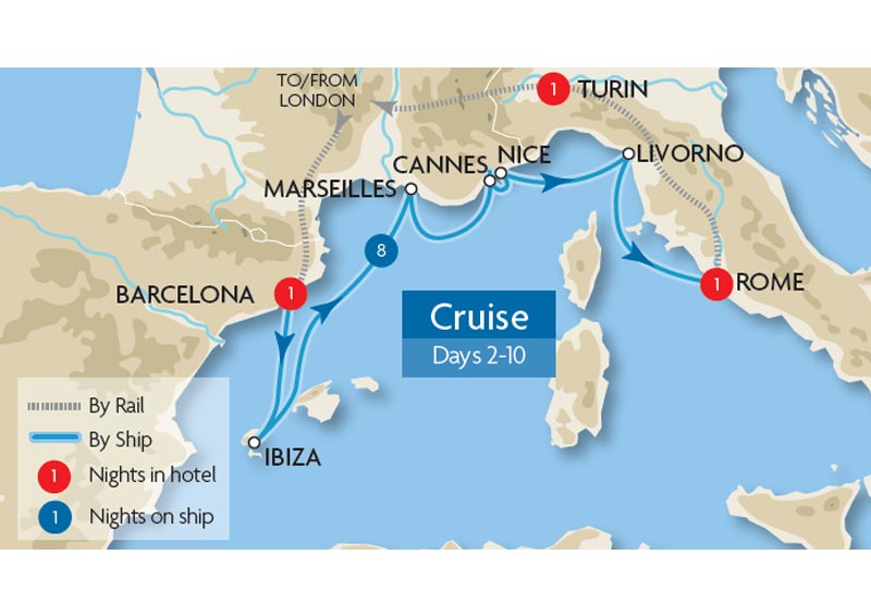 Mediterranean Escorted Cruises  Great Rail Journeys