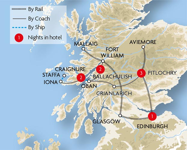 Scotland Train Holidays and Rail Tours – Train Travel In Scotland Map