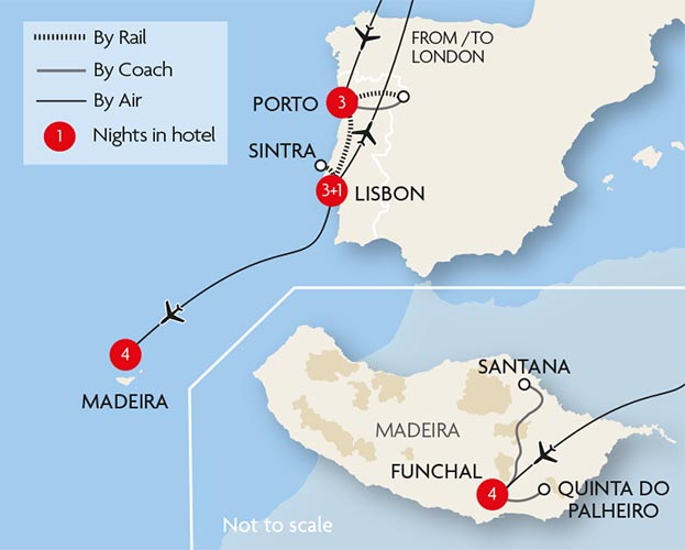 Portugal And Madeira Tour Great Rail Journeys - Portugal map madeira