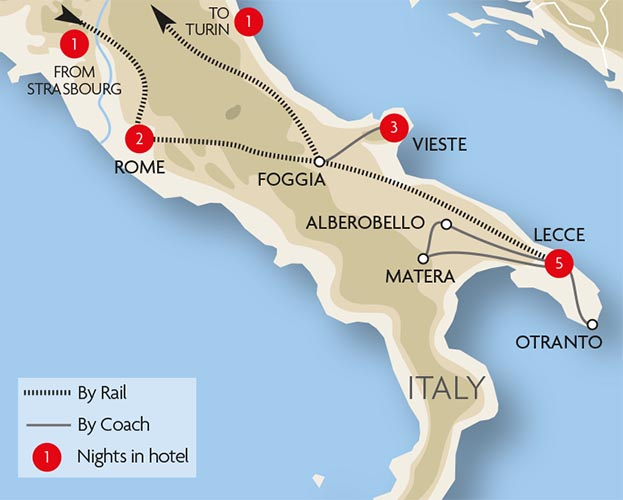 Italy Train Holidays and Rail Tours – Train Travel Italy Map