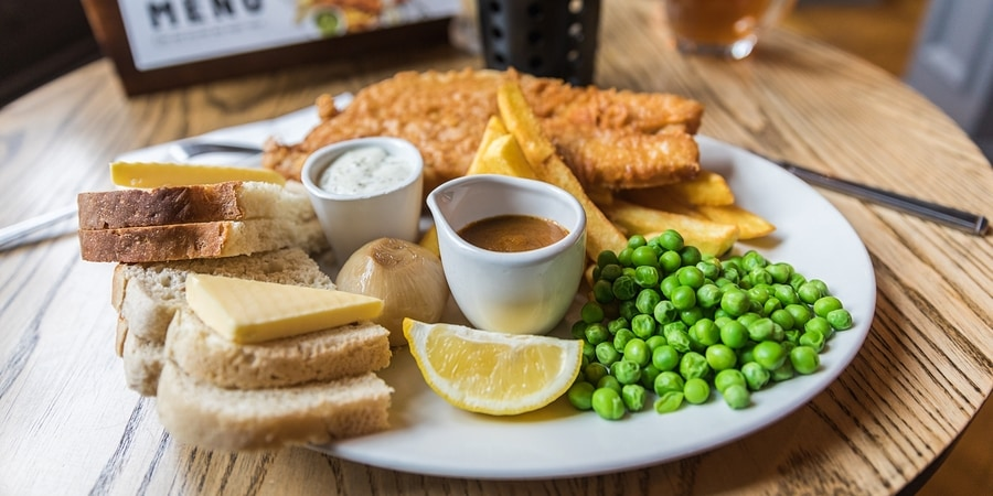 England food and drink food for Bettys fish and chips