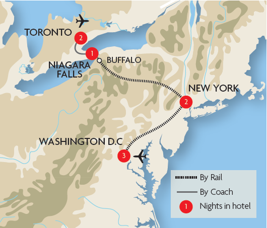 Niagara Falls Tours From Baltimore
