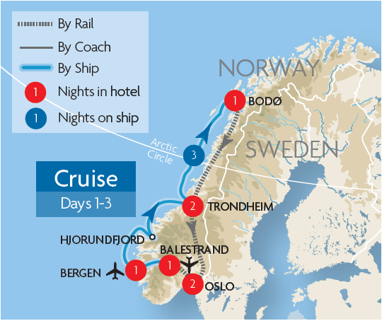 Nordland Railway Rail Tours Great Rail Journeys - Norway map railway