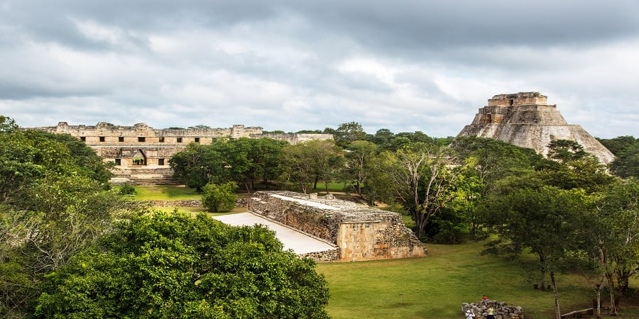 Ancient Mayan Pyramid, Uxmal