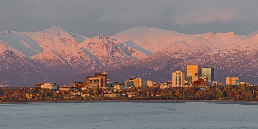Sunset over Anchorage