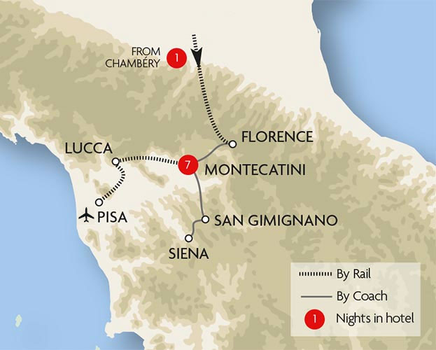 Highlights of Tuscany Tour Great Rail Journeys