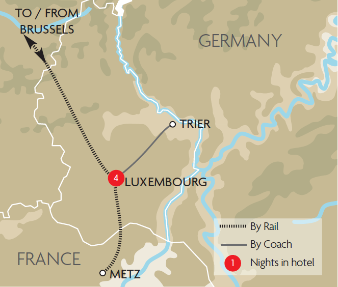 Luxembourg Trier Metz Christmas Markets Tour GRJ - Germany map trier