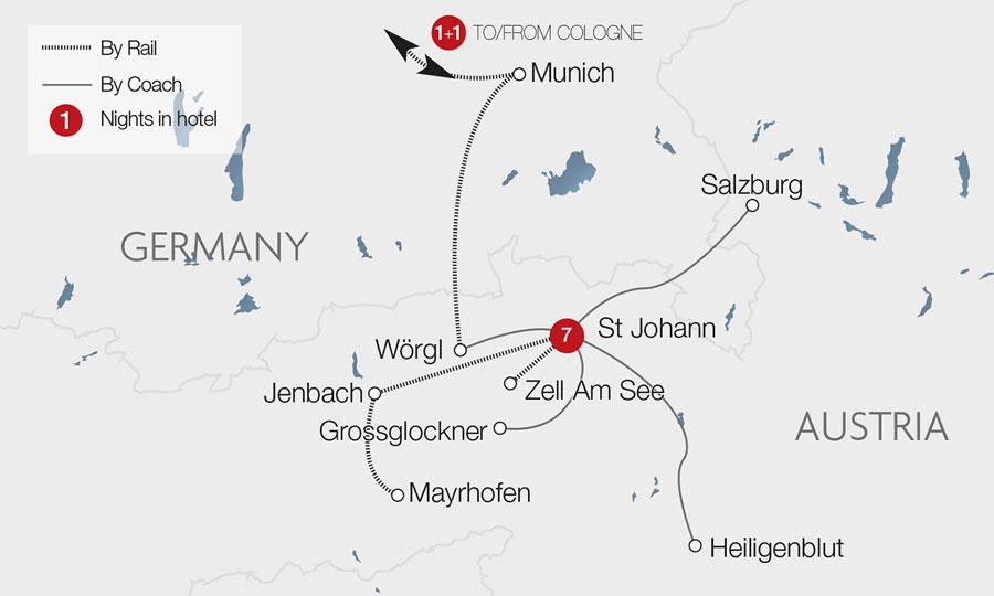 Salzburg train holidays rail tours great rail journeys view tour mapview gallery gumiabroncs Gallery