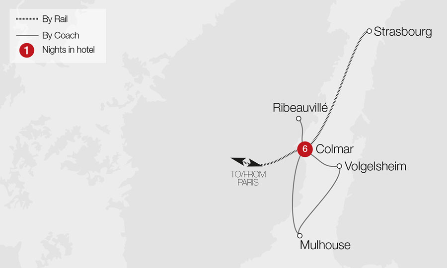 Alsace and the Route des Vins Tour Great Rail Journeys
