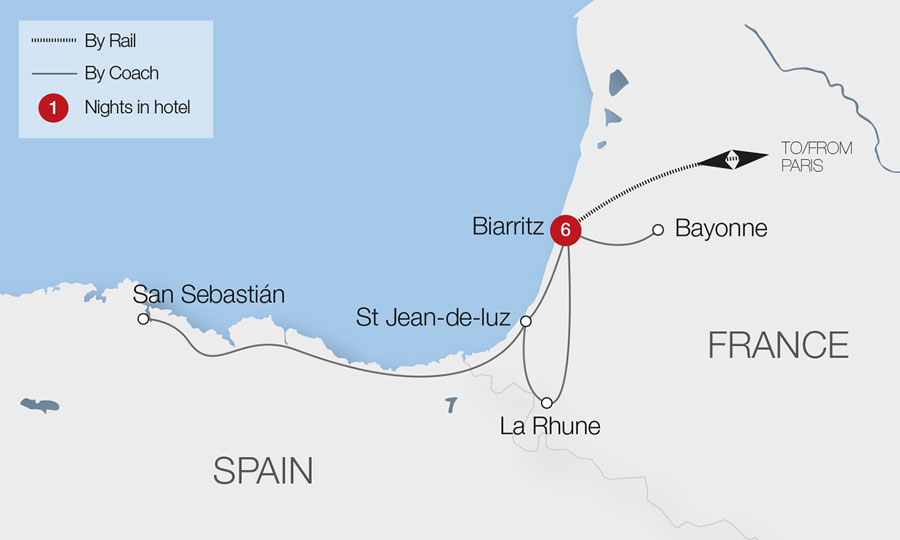 Biarritz the Atlantic Pyrenees Tour Great Rail Journeys