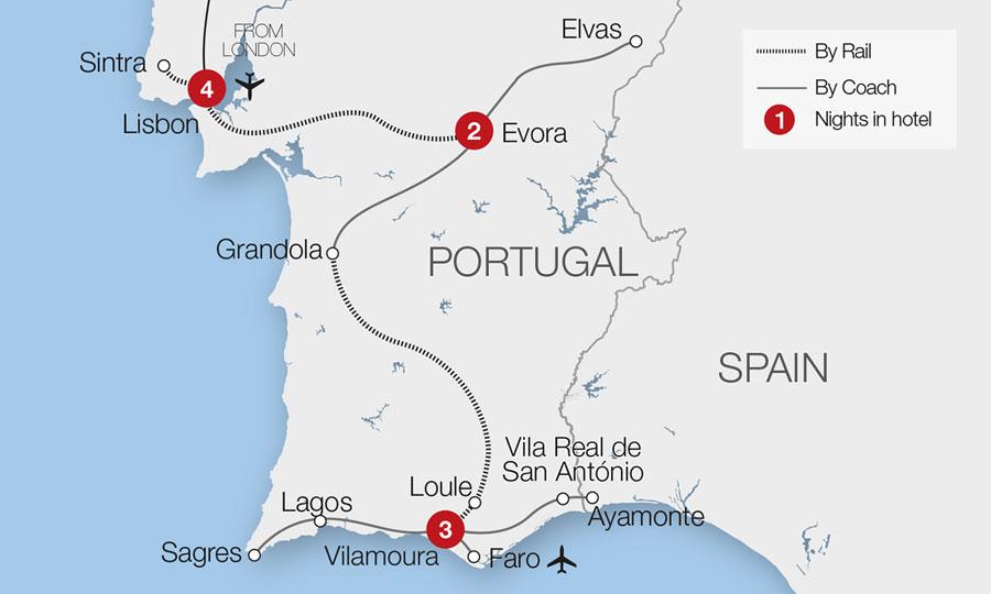 Portugal Train Holidays Rail Tours Great Rail Journeys - Portugal rail network map