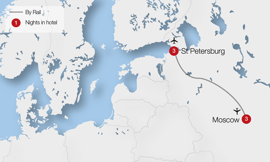 Moscow St Petersburg Tour Great Rail Journeys