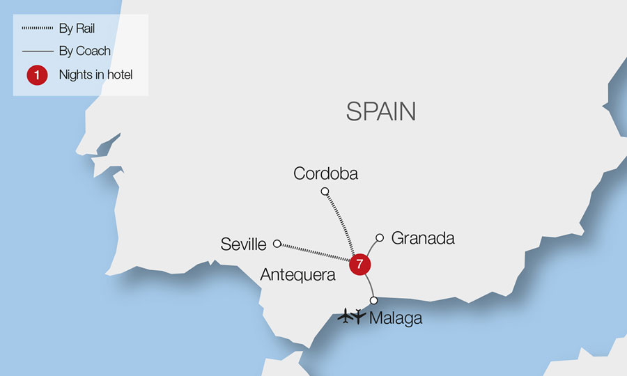 Detailed Map Of East Coast Of Spain.Spain Train Holidays Rail Tours Great Rail Journeys