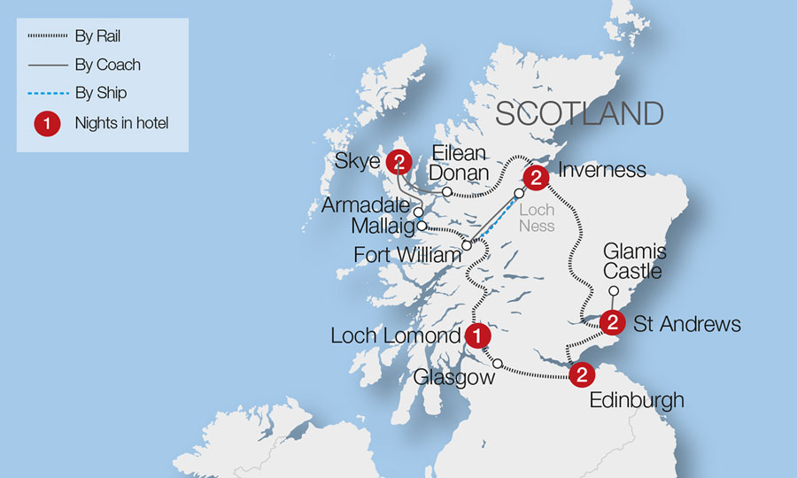 Grand Tour of Scotland Tour Great Rail Journeys