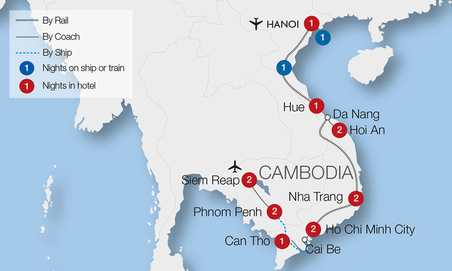 Mountains In Vietnam Map.Marble Mountains Train Holidays Great Rail Journeys
