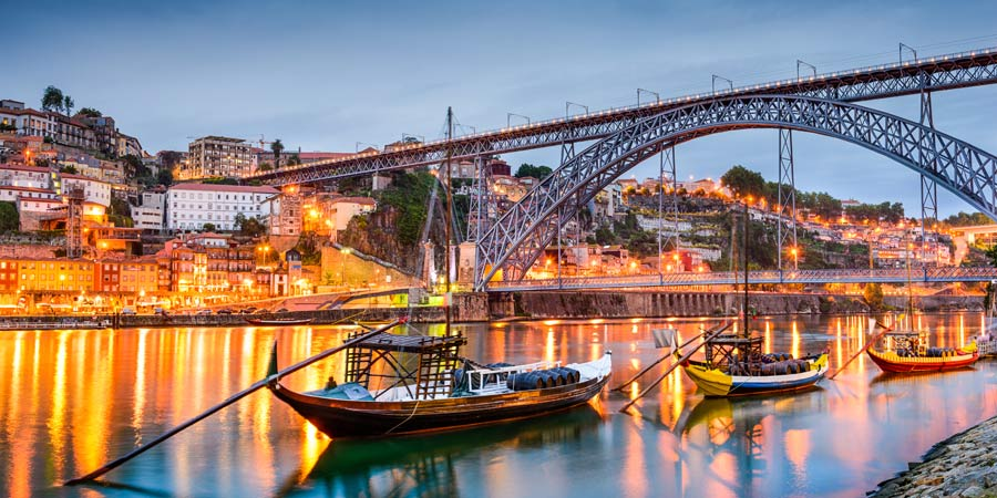 Porto Skyline at Night