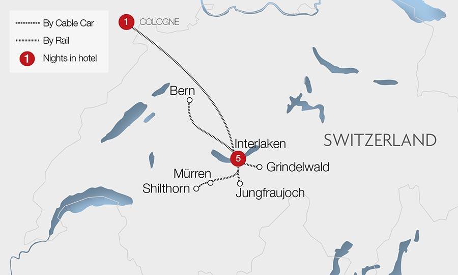 Interlaken Jungfrau Express at Christmas GreatRailcom