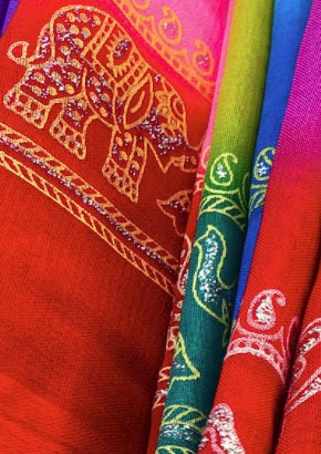 Colourful Indian material