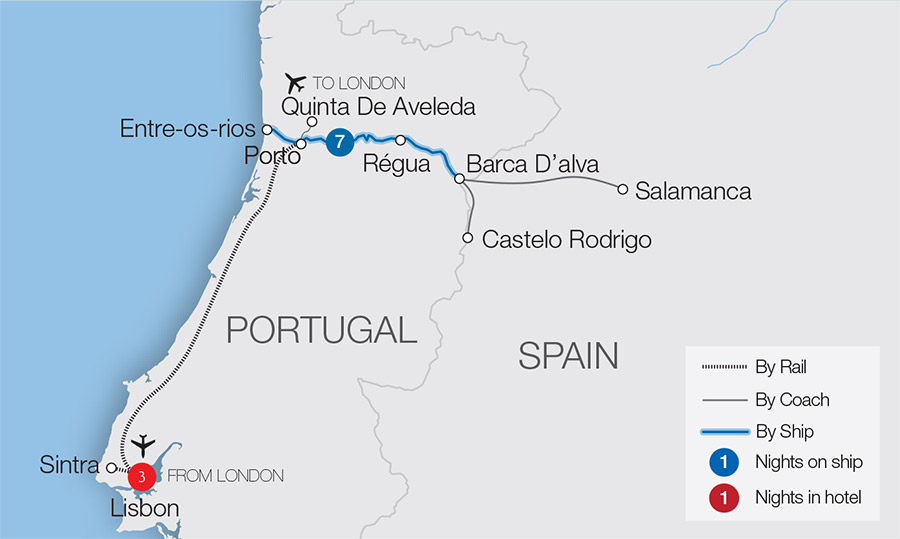 Douro Cruise on the Spirit of Chartwell | Great Rail Journeys