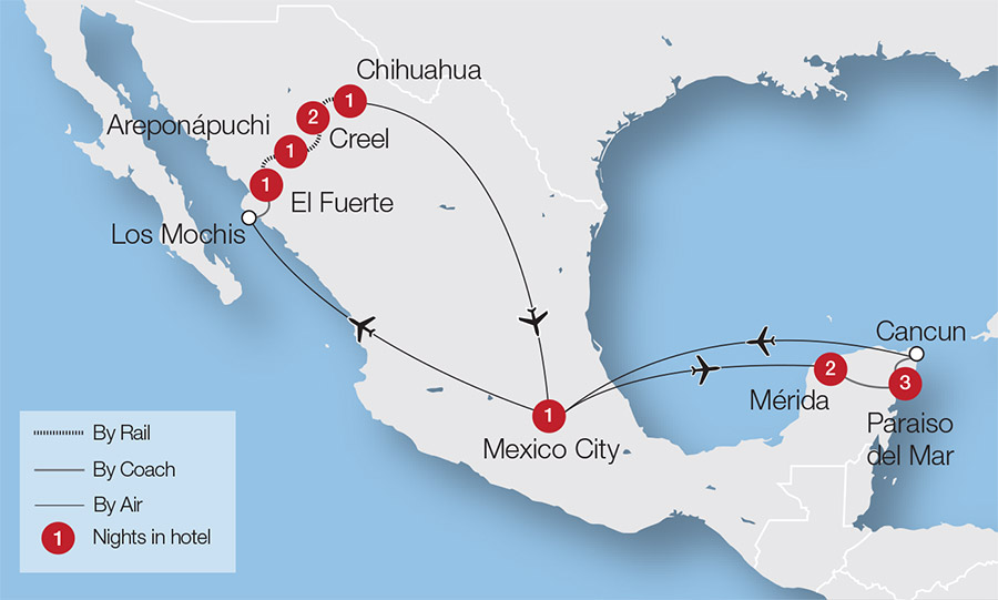Mexican Escorted Train Holidays Great Rail Journeys