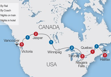Canada Coast to Coast rail holiday