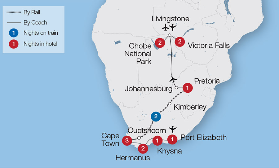 Victoria Falls Cape Town and the Garden Route Great Rail Journeys