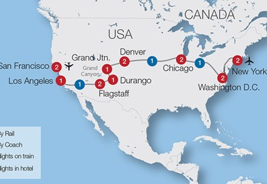 USA Coast to Coast Escorted Rail Tour Great Rail Journeys