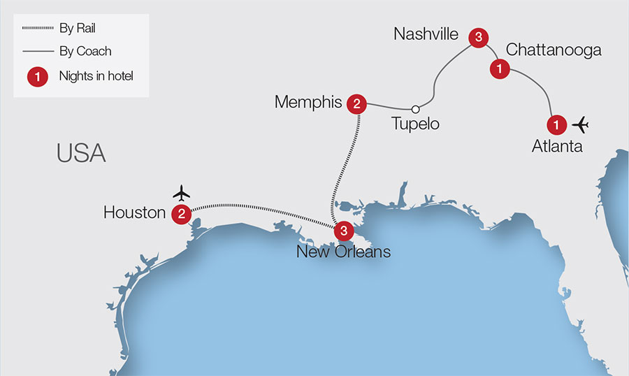 Tracks of the Deep South Tour Great Rail Journeys