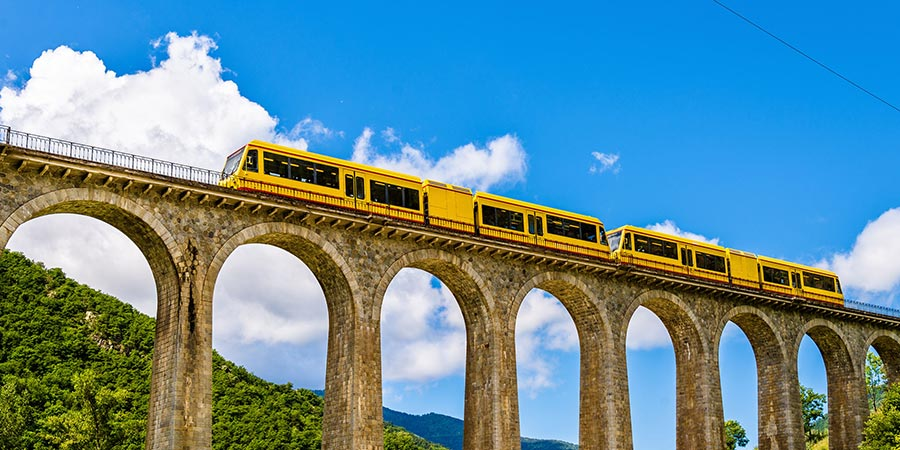 The Yellow Train of the Pyrenees
