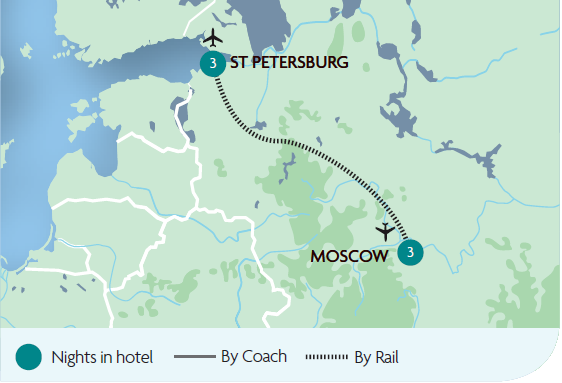 Moscow And St Petersburg Rail Tours Great Rail Journeys