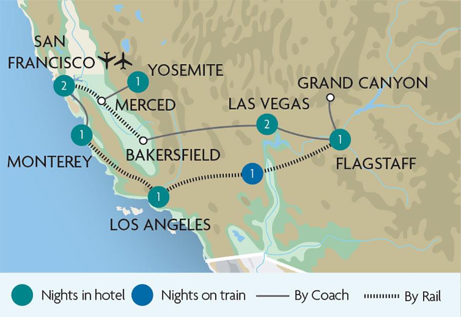 The Glamorous West Coast of America | Great Rail Journeys on