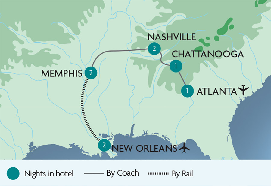 Marriott New Orleans Map.Ac Hotel By Marriott Great Rail Journeys