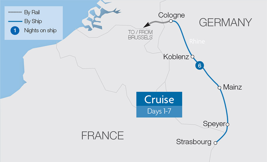 Five-Star Rhine Cruise at New Year Tour | Great Rail Journeys