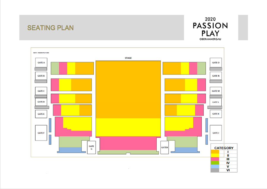 Passion Play Theatre Seating Plan