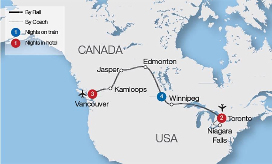 Niagara Falls Train Tours Great Rail Journeys